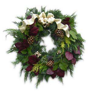 Cabernet Christmas Wreath