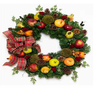 Fruits of Winter Christmas Wreath