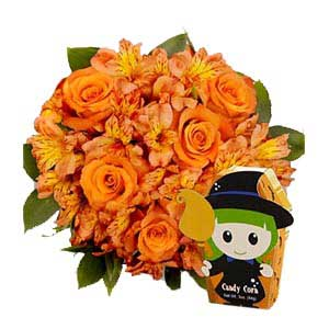 Halloween Bouquet with Gourmet Candy Corn