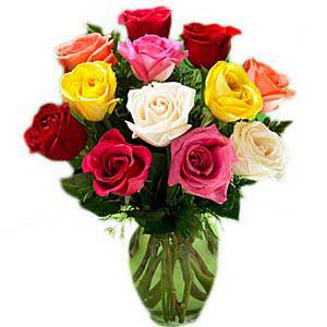 Arrangement Of Mixed Roses
