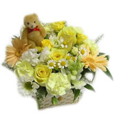 Delivery of funeral flowers in Uranium City