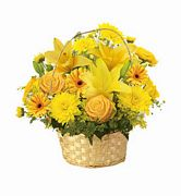 Yellow Basket - Sunny Bouquet