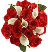 Red Roses with Calla Lillies  - Classical Arrangement