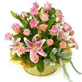 Pink Flower Basket - Orphee