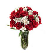 Red Roses And Alstromeria Bouquet  - Good morning princess